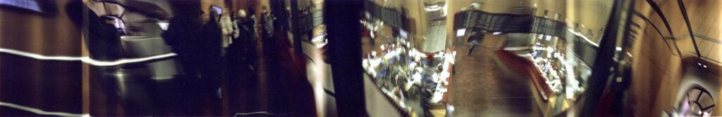 Martin Liebscher: Stock Exchange, Frankfurt, 2001 | 70 x 410