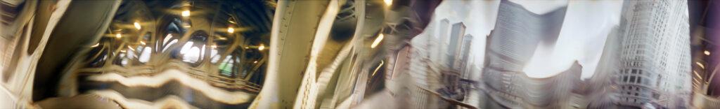 Martin Liebscher: Wabash Bridge, Chicago, 2001 | 70 x 476 cm