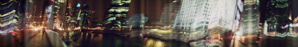 Martin Liebscher: River, Chicago, 2001 | 70 x 460 cm