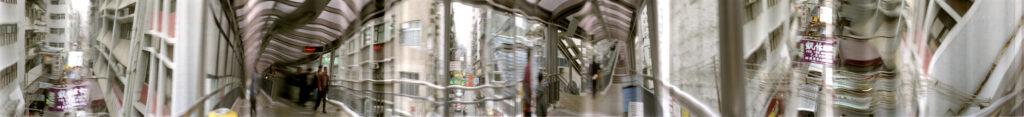 Martin Liebscher: Central Escalator 2, Hong Kong, 1994 | 50 x 465 cm