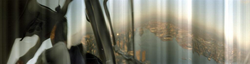 Martin Liebscher: Helicopter 2, New York City, 1997 | 70 x 265 cm