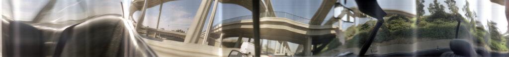 Martin Liebscher: Interchange, Los Angeles, 1998 | 70 x 596 cm