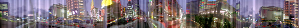 Martin Liebscher: Sundown, Tokyo, 1999 | 70 x 810 cm